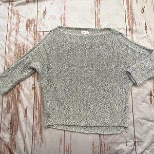 Lou & Grey womens cold shoulder sweater-gray-sz XS